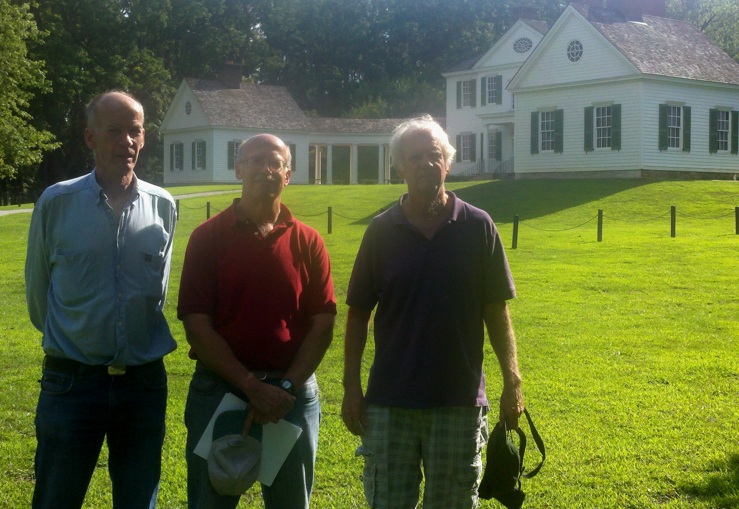 The Science Panel members, while visiting Parkersburg for the press conference on Monday, July 30, also visited the local attraction, Blennerhassett Island, with the restored house pictured here.
